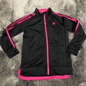 Adidas Girls Track Jacket: Pink (PM946)